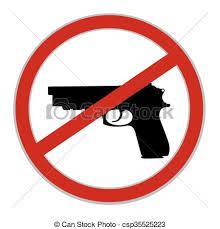 Nej, underteckna, vapen, tillåtet.   CanStock