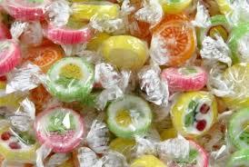 Fruktkaramell inslagen:   Godis